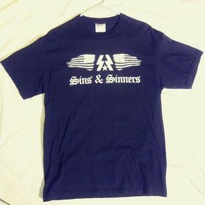 Sins and Sinners band shirt